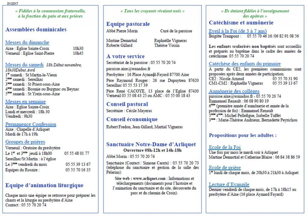 annuaire des personnes à contacter paroisse Assomption